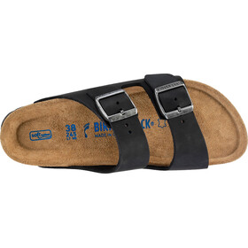 Birkenstock Arizona Sandals Oiled Leather Narrow, black
